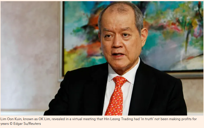 Singapore scandal rocks commodity traders and their lenders Debt disclosure crisis at tycoon OK Lim's Hin Leong group threatens sector's credit lines